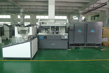 PET / PP / PE Plastic  Container Automatic Silke Screen Printing Machine 4000pcs / hr With IR Dryer